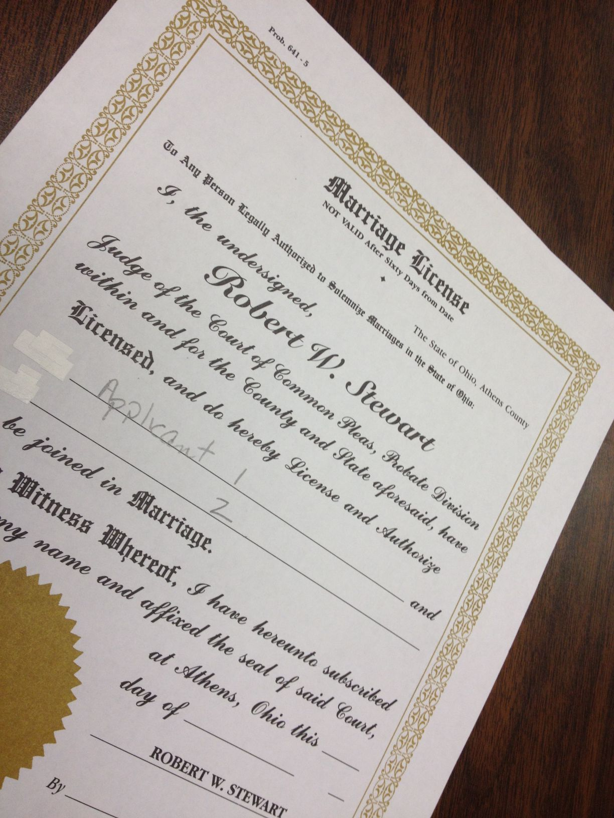 Richland county ohio marriage license requirements free