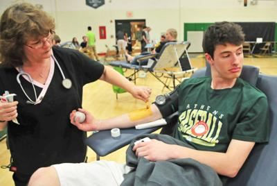 Blood drive at Athens High School