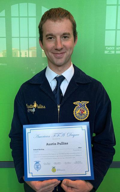 Austin Pullins earns American FFA degree