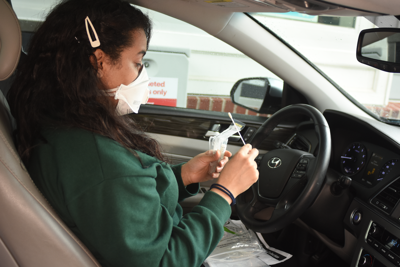 CVS drive-thru patient swab