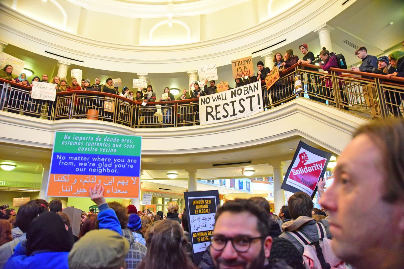 Sit-in demonstration at Ohio University's Baker Center