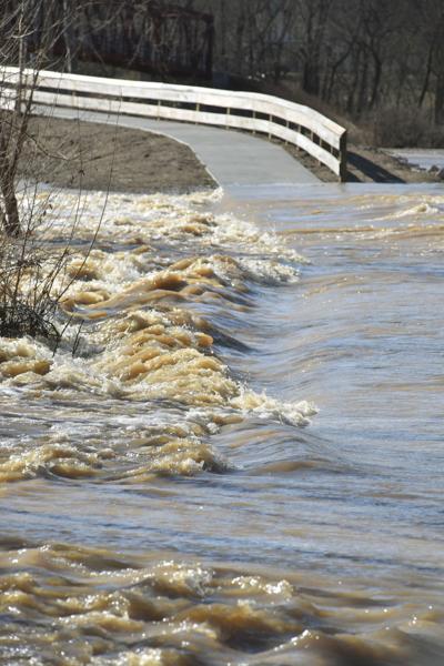 Bike path flooding