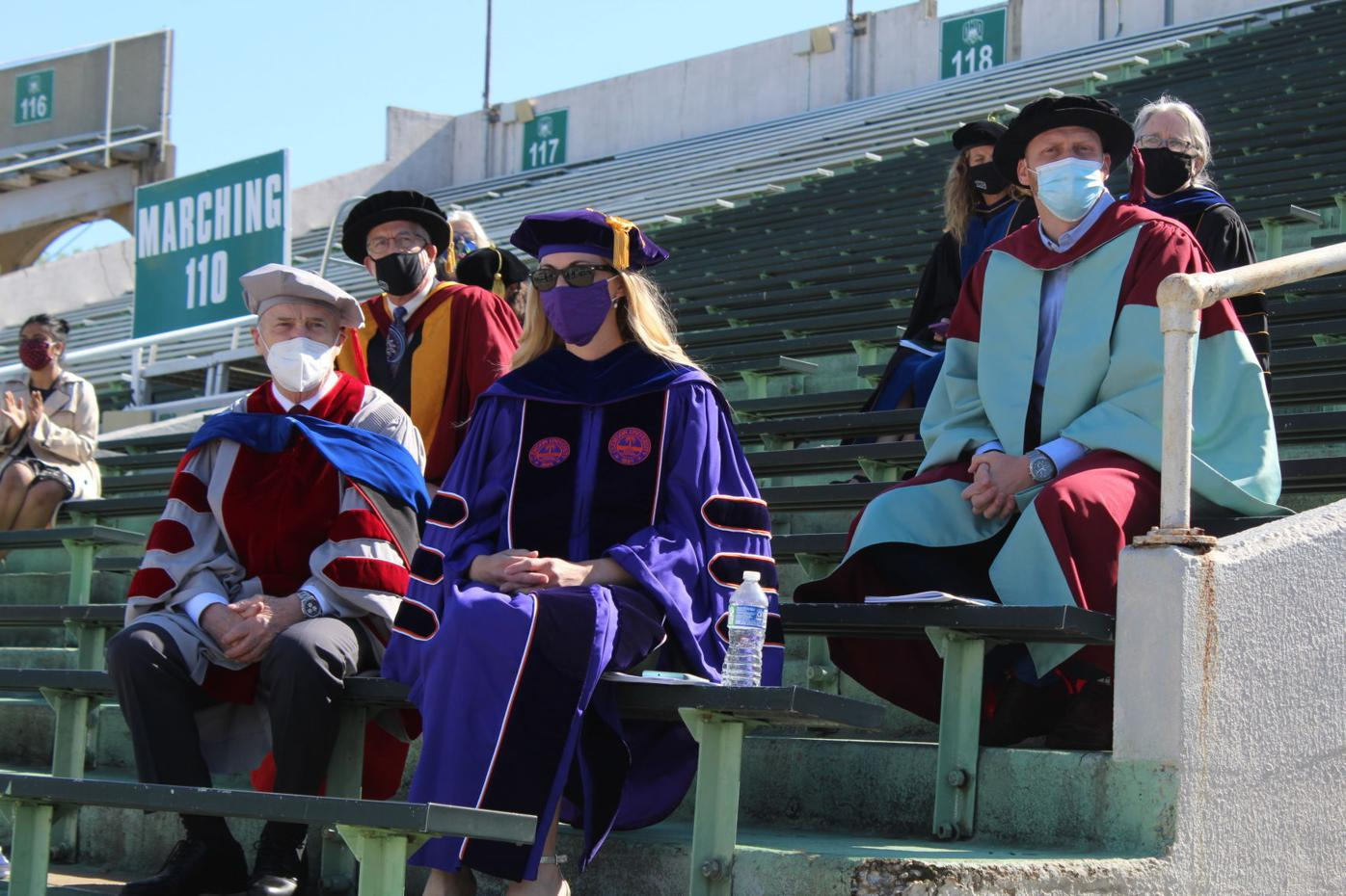 Ou faculty at commencement