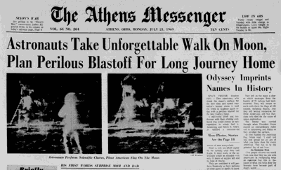 Apollo 11 front page