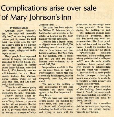 Mary Johnson's, best hillbilly bar ever