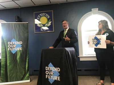 Steve during Defend our Future event