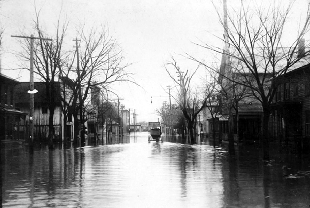 Nelsonvile flooding 1907