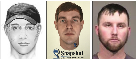 Shawn J. Lawson with police sketch and phenotype