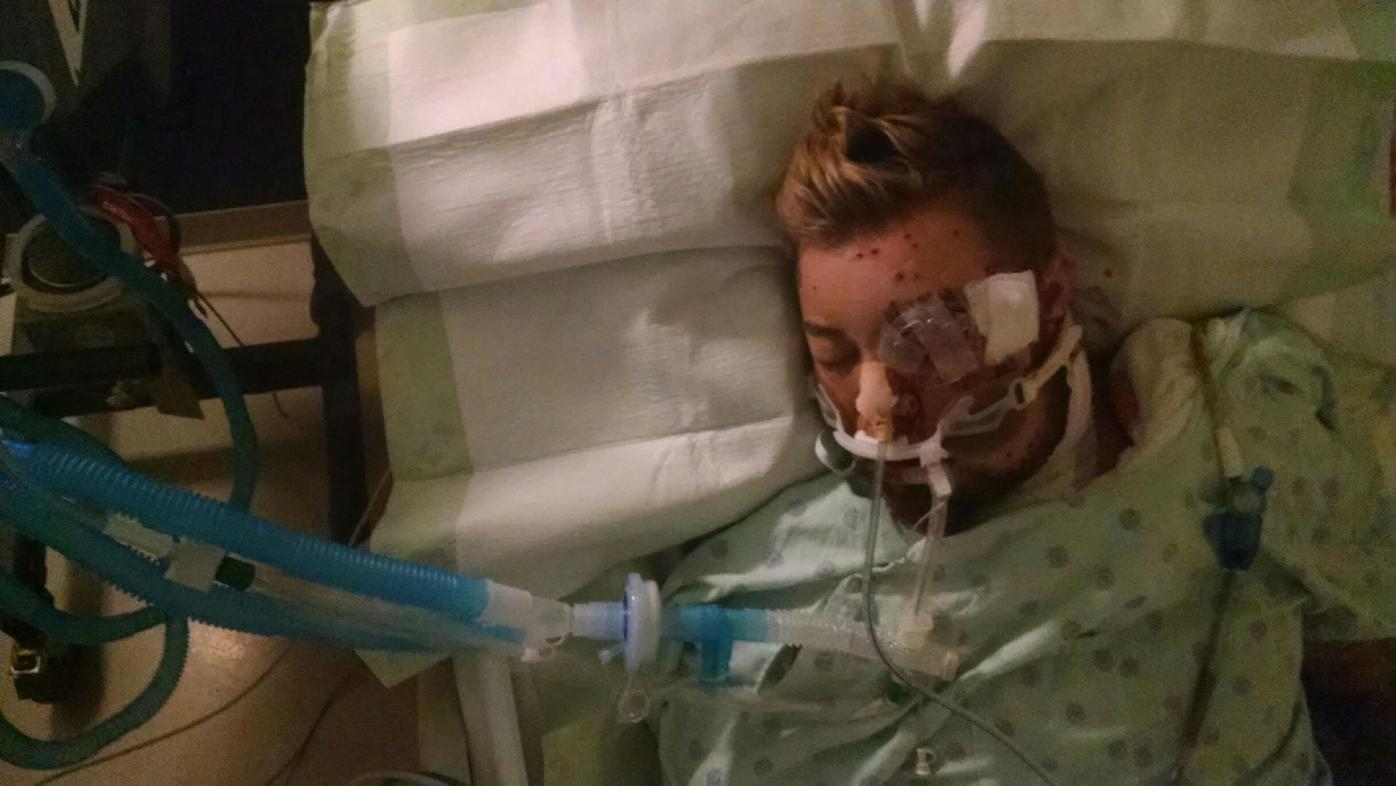 Alex Andrews hospital bed