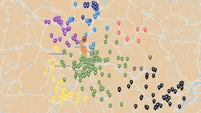 Voter Purge Map