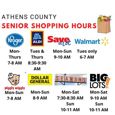 Kroger Christmas Hours 2020 Athens Ohio Senior shopping hours' available in Athens County | Local News