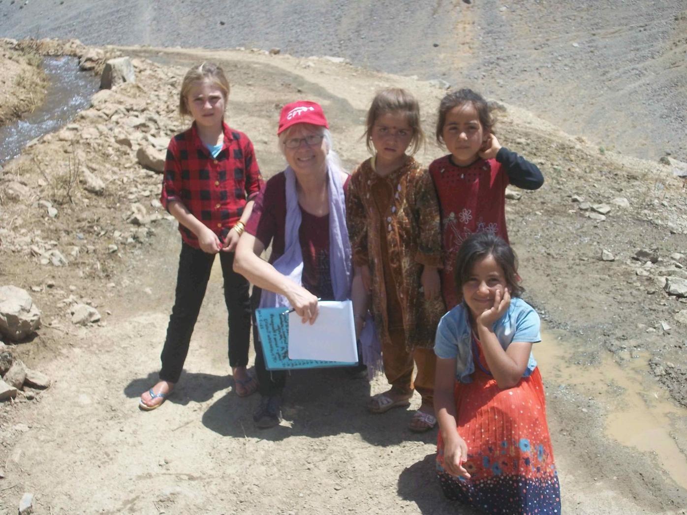 Peggy Gish in Iraq