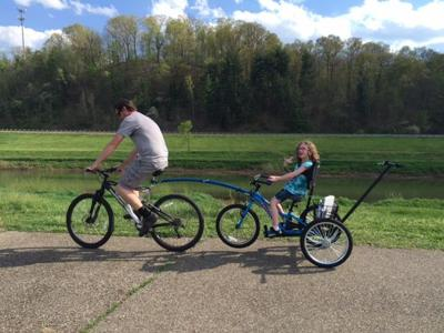 fiona with dad and trike