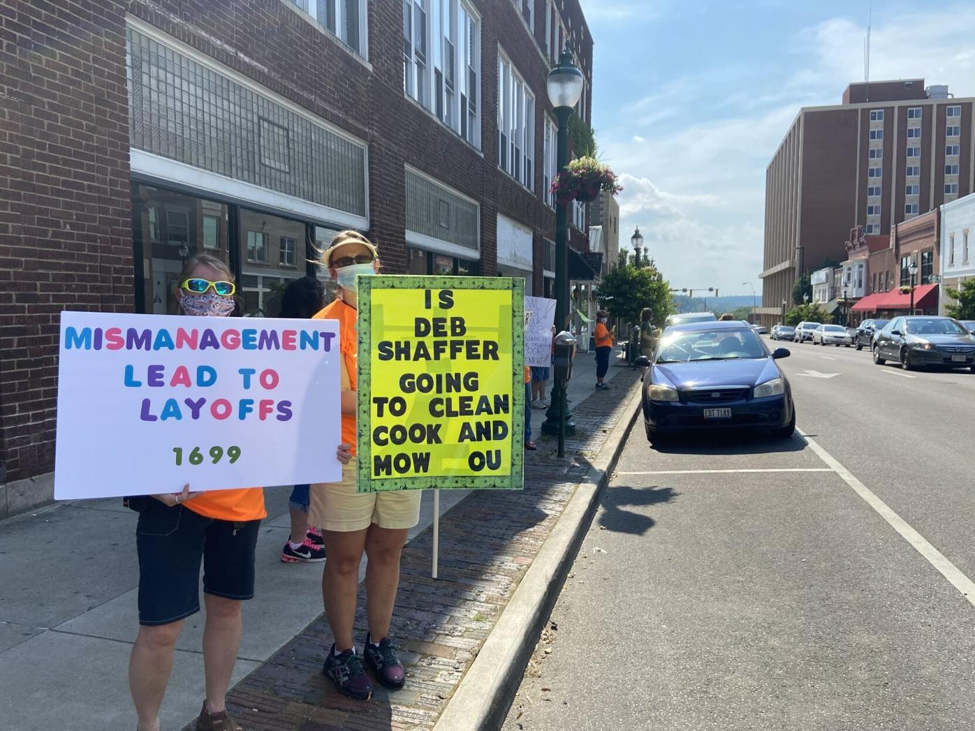 Deb Shaffer Protester