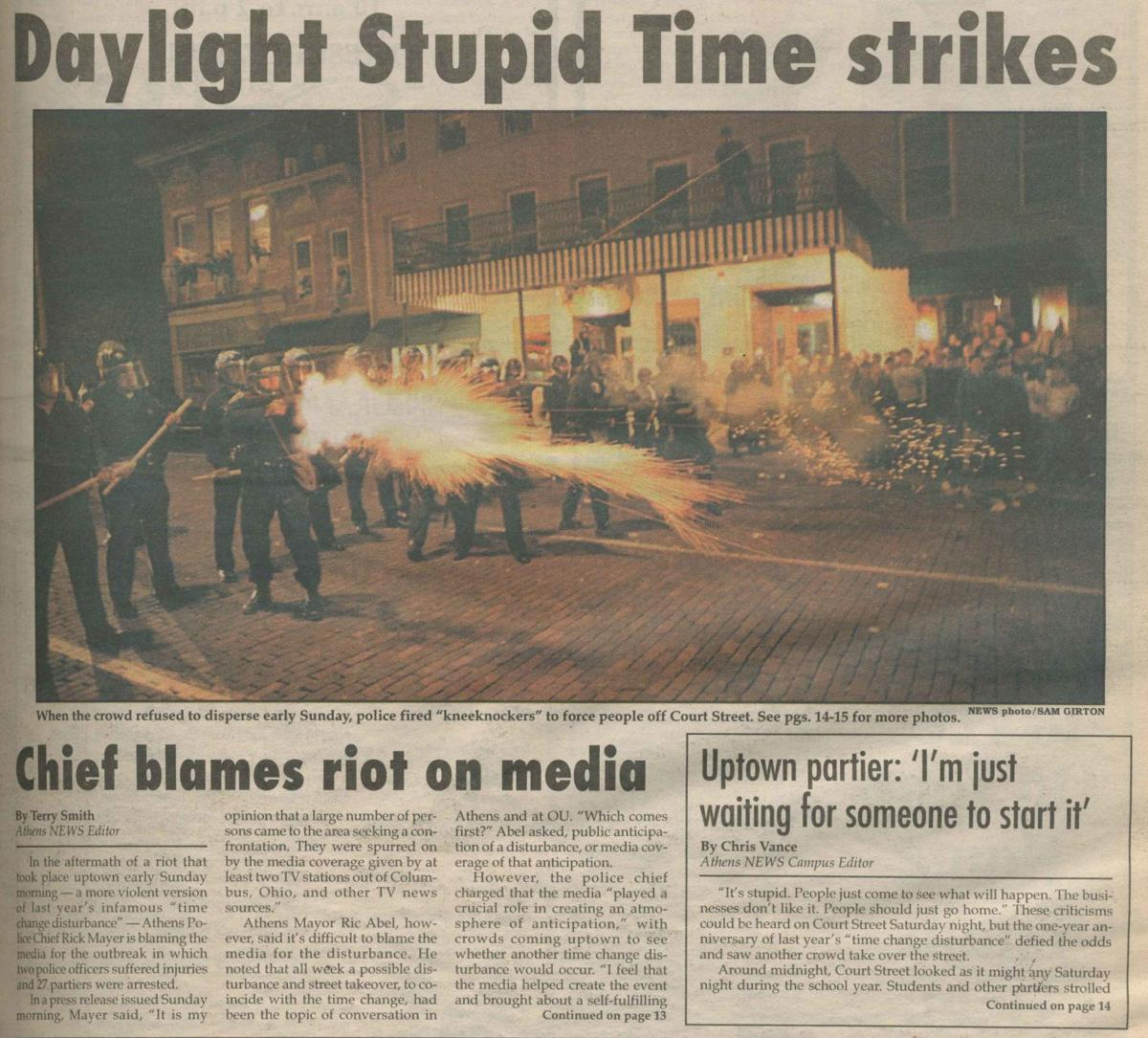 Police strategy evolved for time-change riots back then