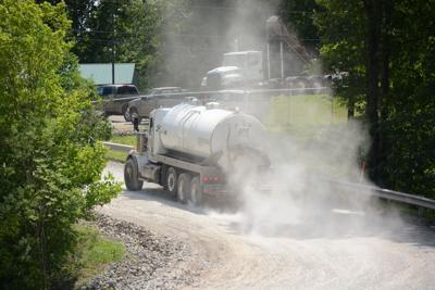 Fracking waste truck