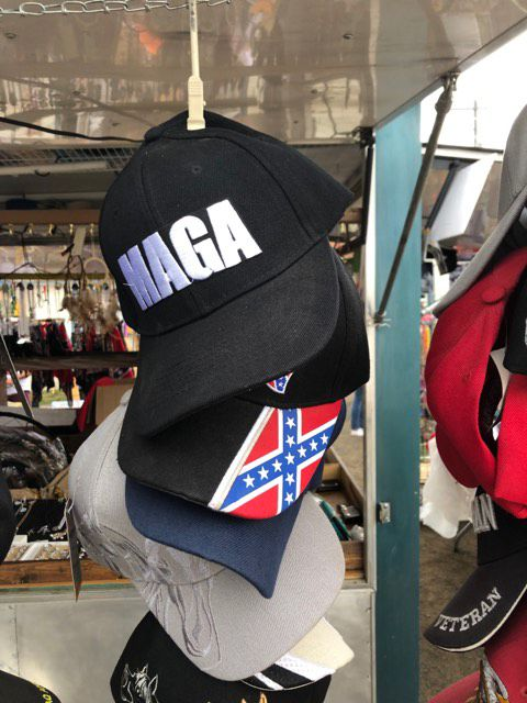 maga and rebel flag hats
