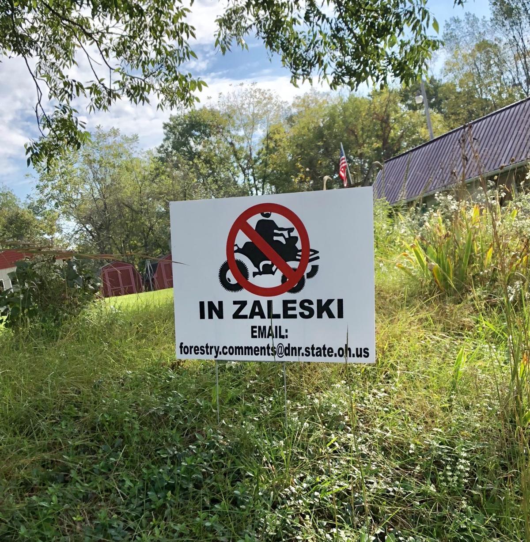 APV signs in Zaleski