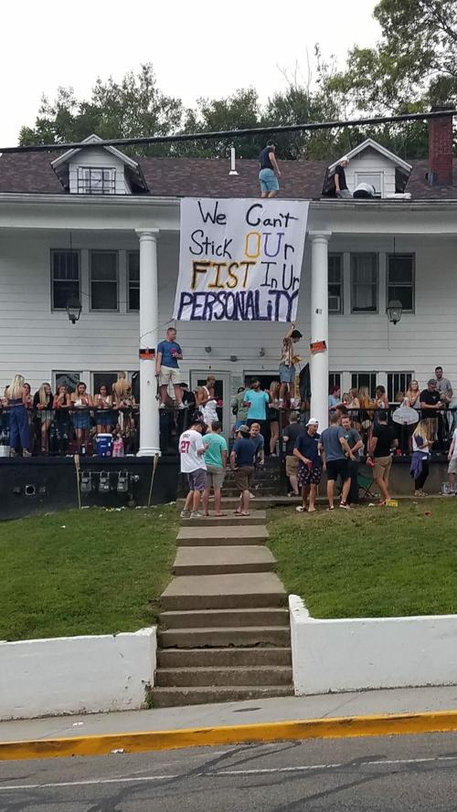 It's a banner year for offensive bed-sheet banners at OU