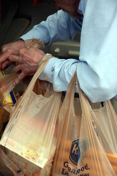 Plastic bags at Kroger