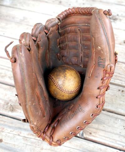 Dennis's ball and glove