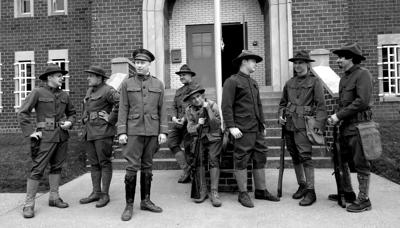WW I men at Armory