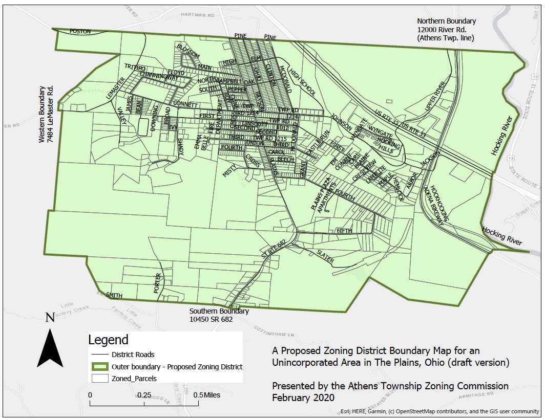 Plains zoning map