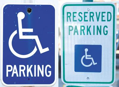Many handicap parking signs can't be enforced