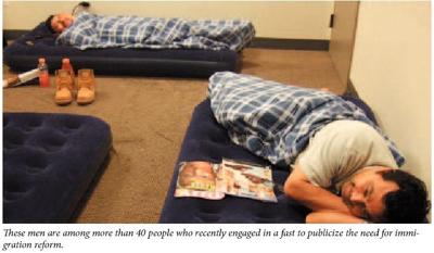 Fasting immigrants recall Arizona border odyssey