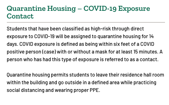 Quarantine Housing: Original