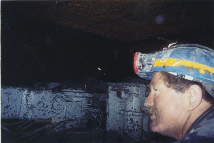 Cecil Dillon inside mine