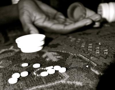 Drugs pills addiction overdose