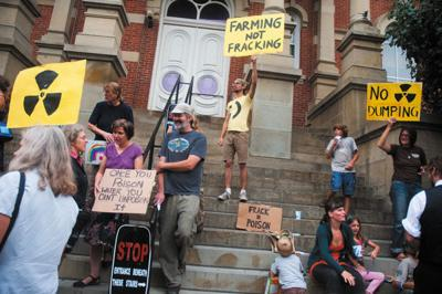 Well-site protester claims she's being overcharged, made an example of