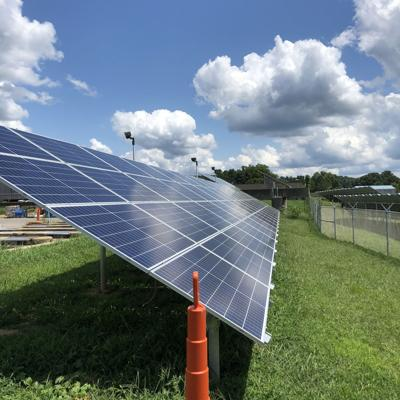 Solar at water treatment plant