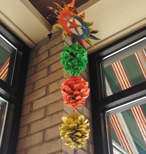 local project converts pinecone art into good cause arts and