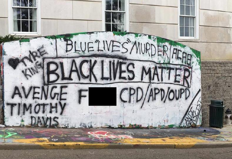 Anti Cop Message On Graffiti Wall Causes Controversy