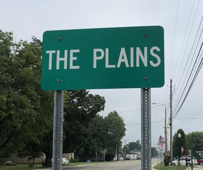 The Plains town sign