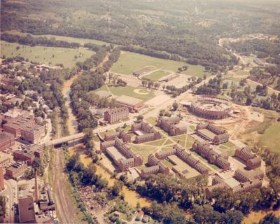 Aerial photo of OU in 1967