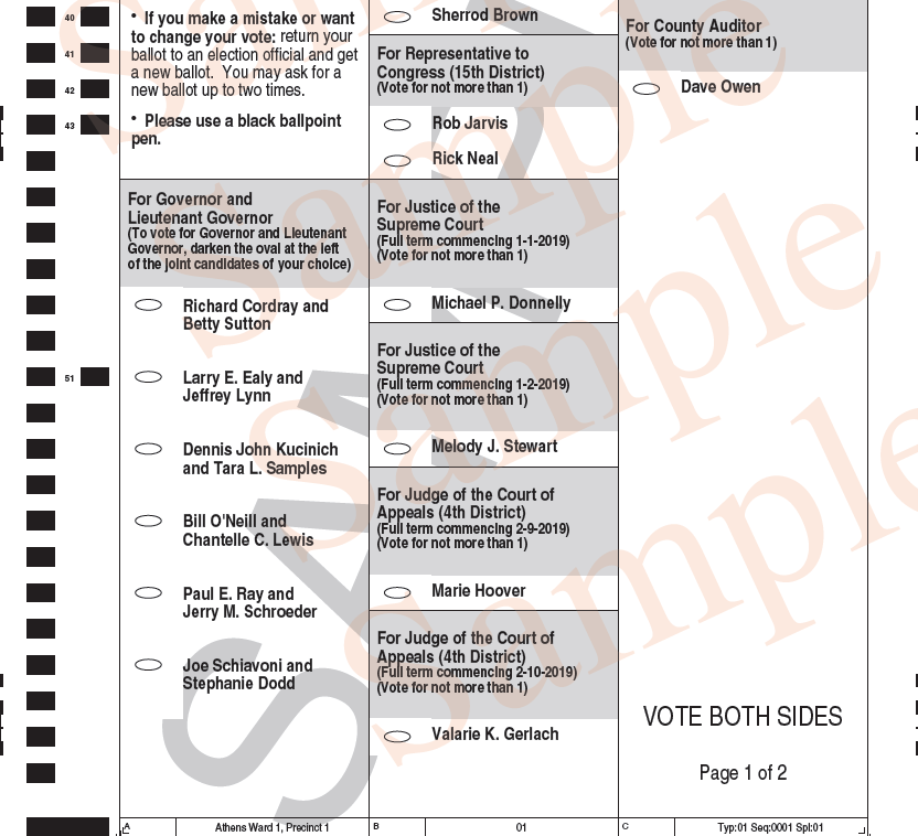 See the sample ballots for tuesday's 2018 primary runoff election.