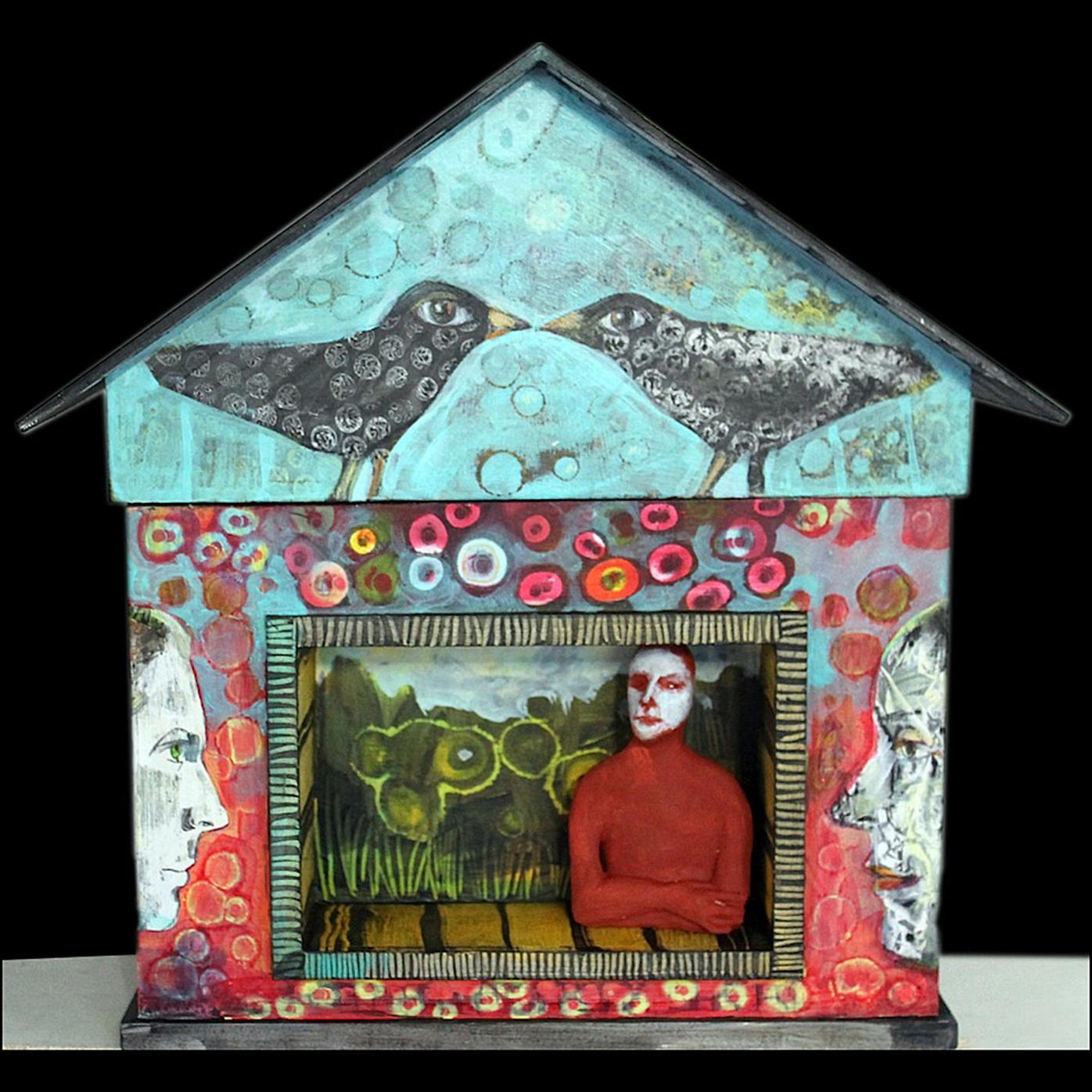 """""""Dream House With Niche and Figure,"""" by Beth Nash"""
