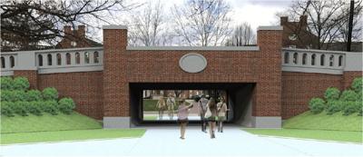 OU pedestrian tunnel rendering_brick