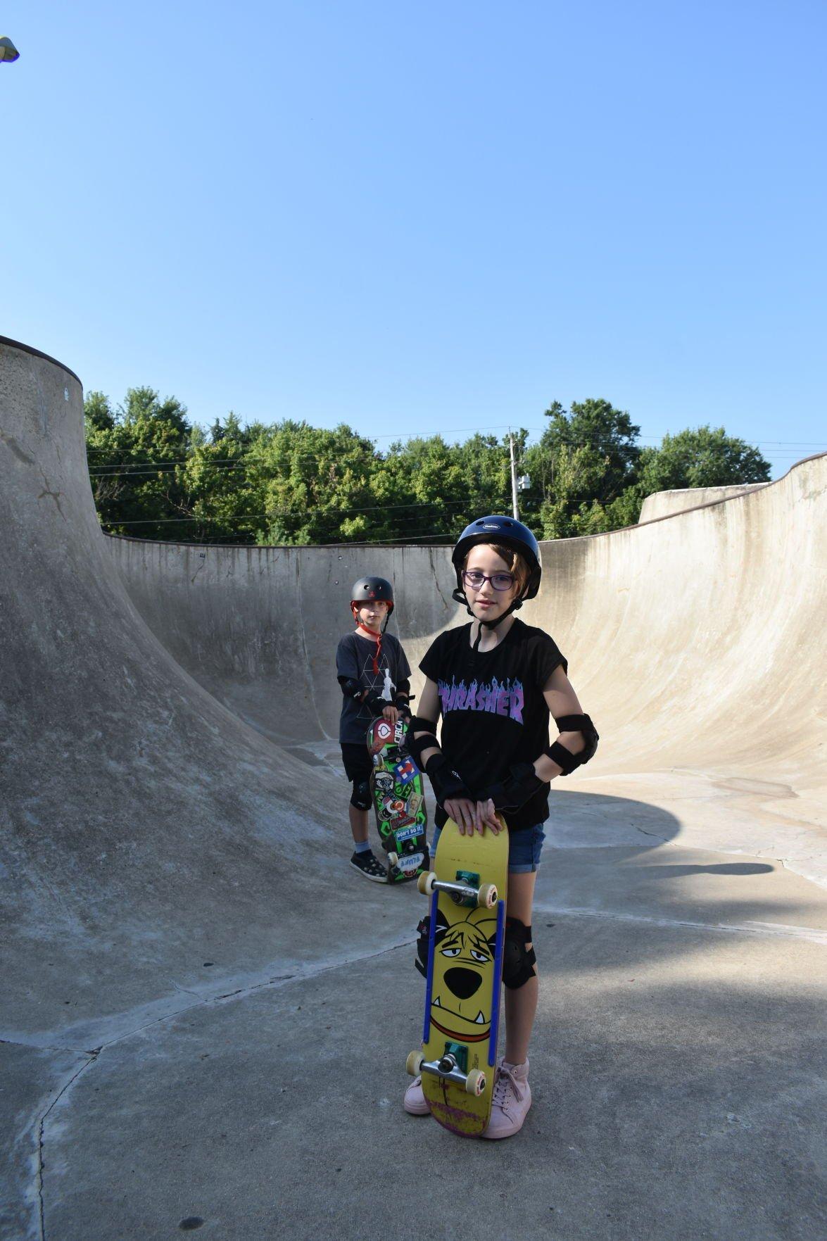 Skate camp kids