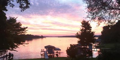 Lake Athens sunset