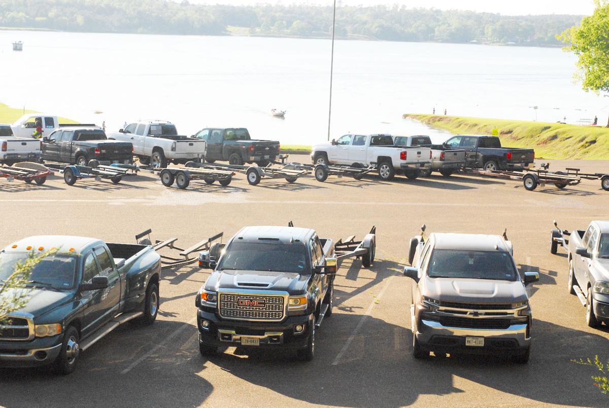 Boat ramp parking lot