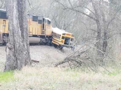 Bus-train collision