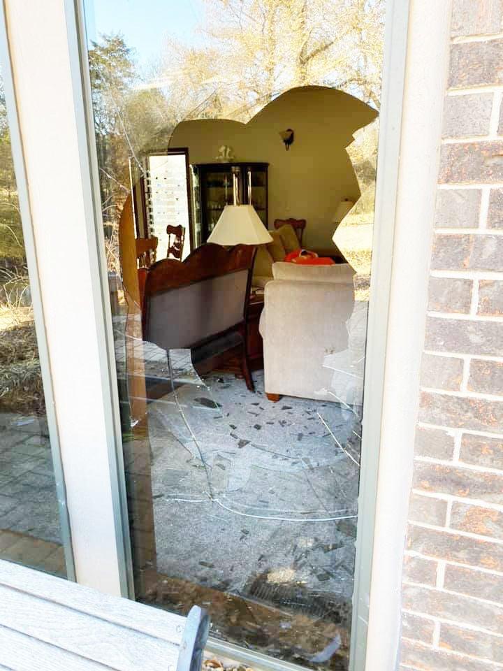 Broken living room door