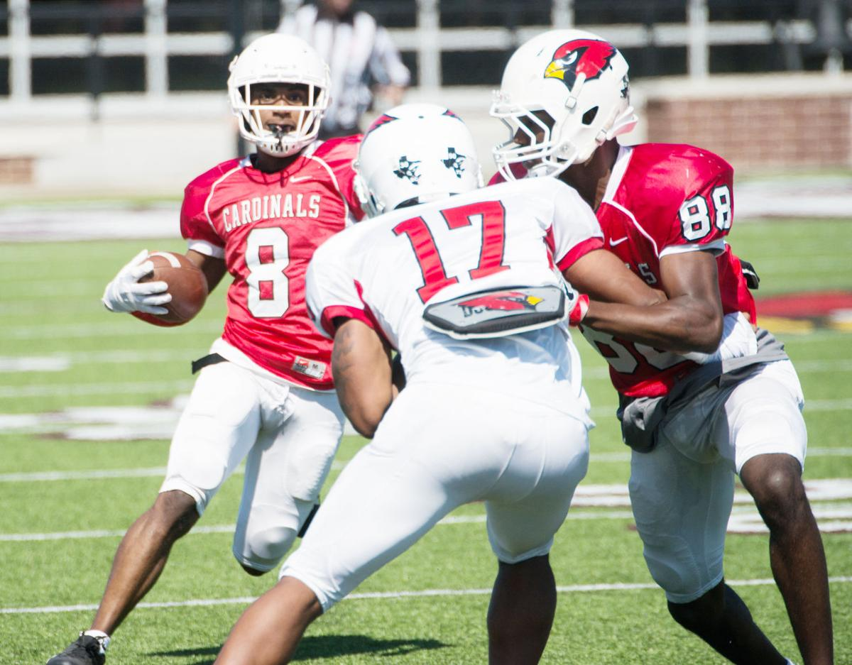 Cardinals show out in spring football game | Sports ...
