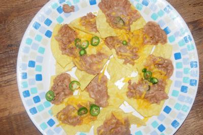 Refried bean nachos