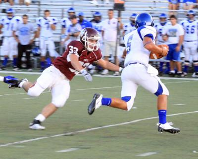 Fincher chases down a sack