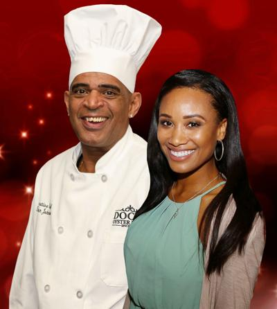 nicole stephens and Chef Stephan Johnson
